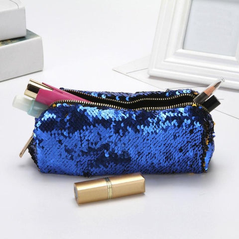 Sequined Makeup Bag