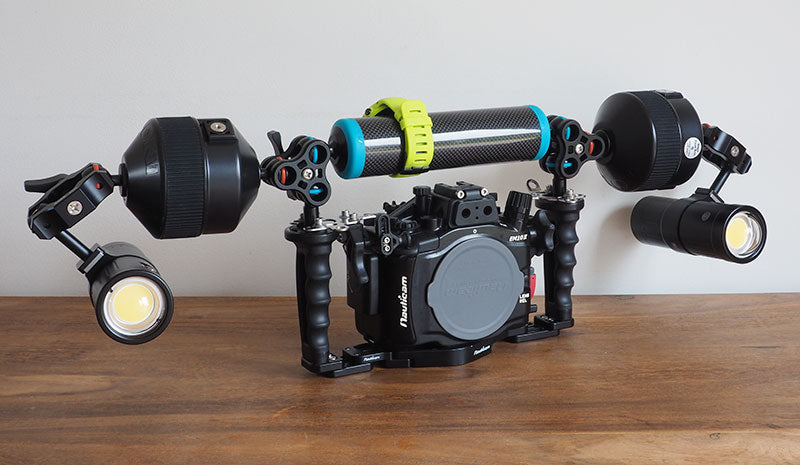 compact arm setup for steady video