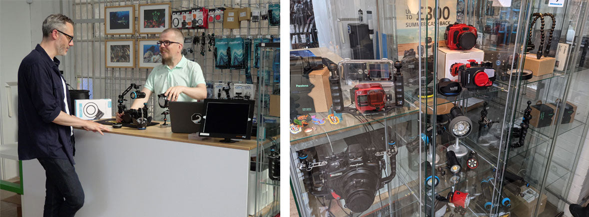 Mike's Dive Cameras Chiswick Showroom
