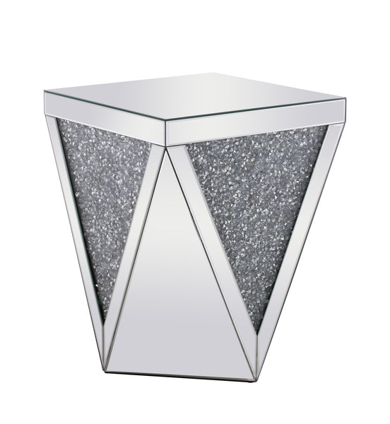 Crystal Clear Mirror End Table