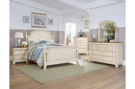Ingle Wood White 4PC Queen Bedroom Set
