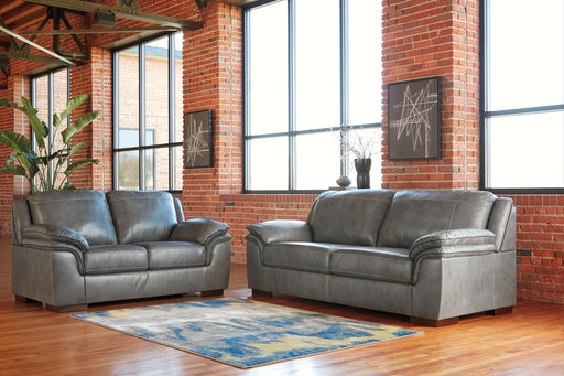 Islebrook Iron Leather 2 Piece Living Room Set