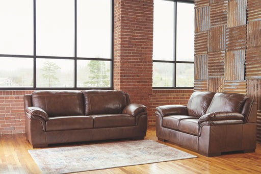 Islebrook Canyon Leather 2 Piece Living Room Set