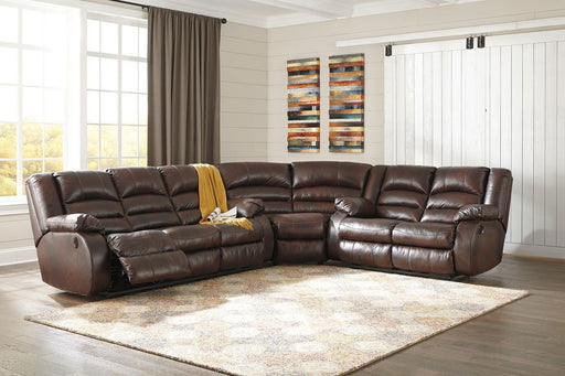Levelland Cafe Leather 3 Piece Sectional