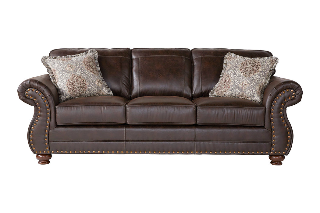 Serta Ridgeline Brownie Dark Brown Sofa