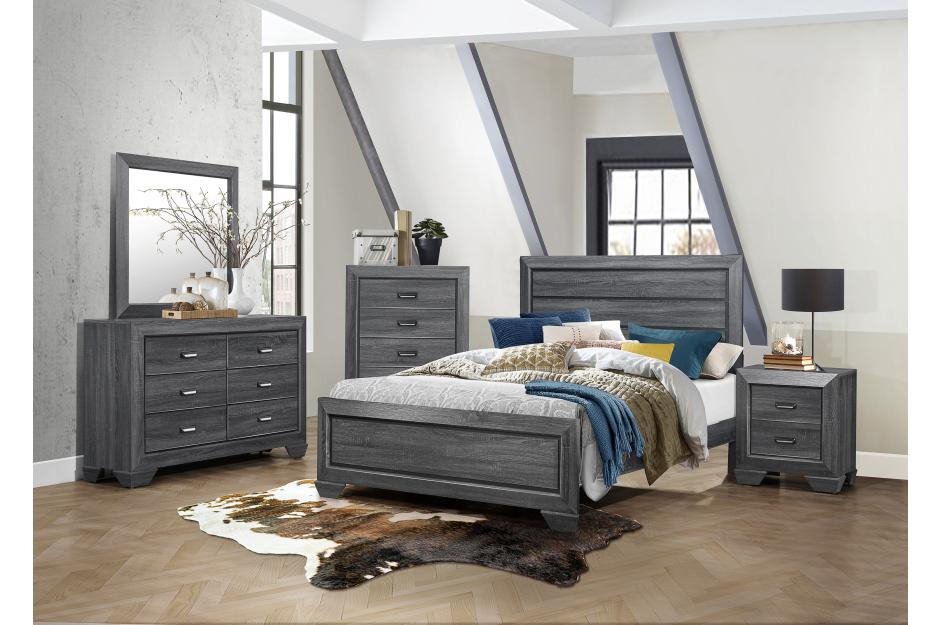 Beechnut 5 PC queen bedroom set Gray