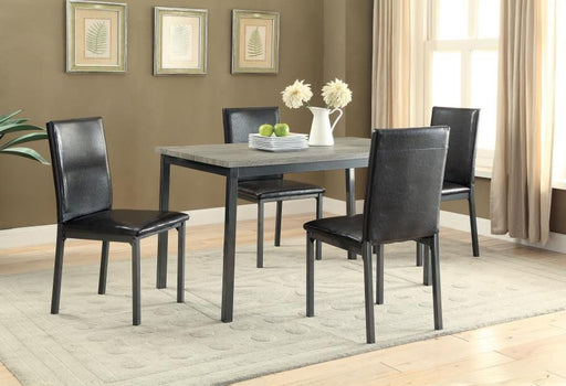 Garza Black 5 Piece Dining Room Set