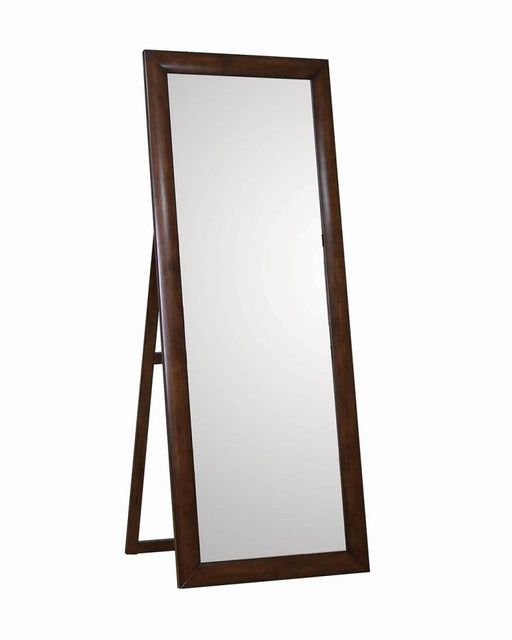 Warm Brown Standing Floor Mirror
