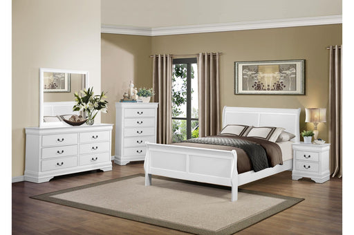 Mayville White 4PC Queen Bedroom Set