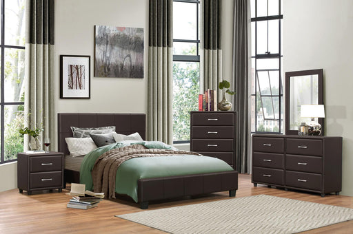 Lorenzi Dark Brown 4PC Queen Bedroom Set