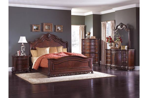 Deryn Park Sleigh 4PC Queen Bedroom Set