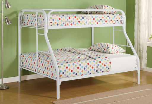 White Twin/Full Bunk Bed