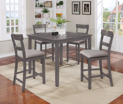 Henkerson Light Grey 5 Piece Counter Height Dining Set