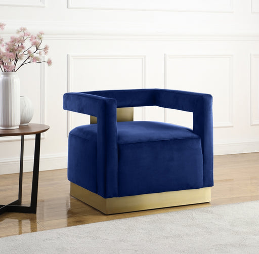 Navy Accent Chair