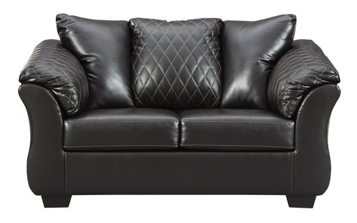 Betrillo Black Love Seat