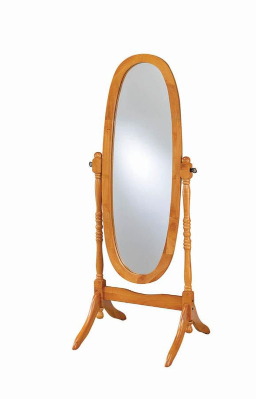 Honey Accent Floor Mirror