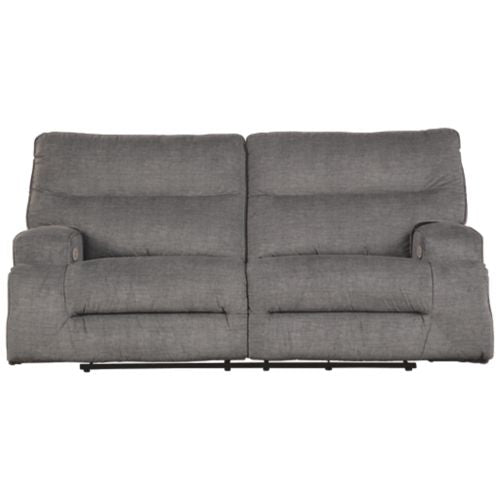 Coombs Charcoal Power Reclining Sofa