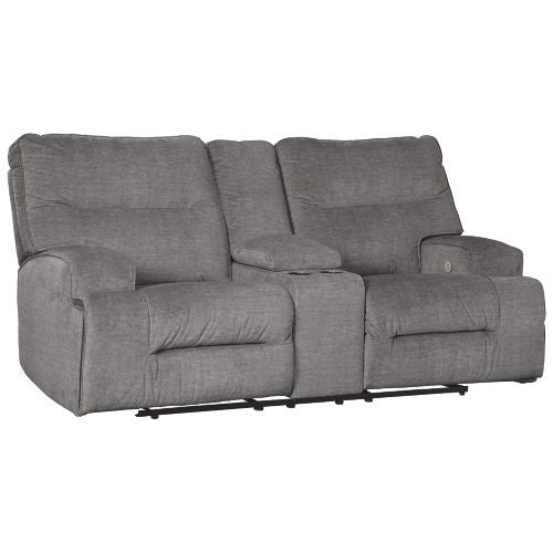 Coombs Charcoal Power Reclining 2 Piece Living Room Set