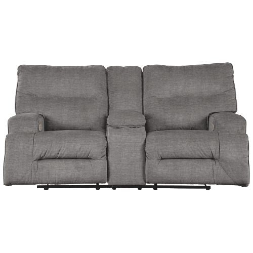 Coombs Charcoal Power Reclining Loveseat