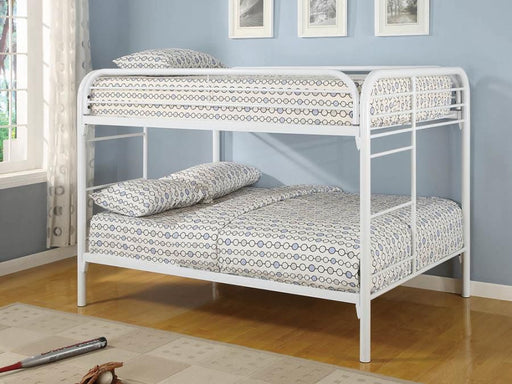 White Full Bunk Bed
