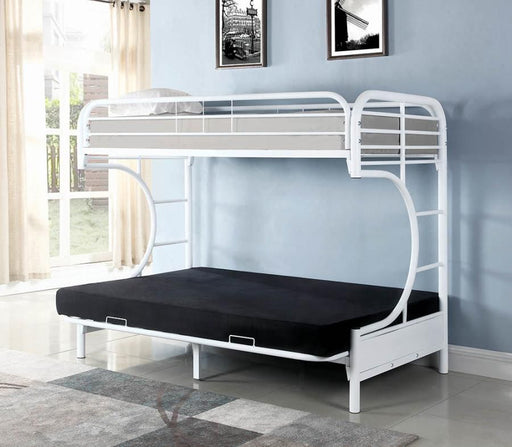White Twin Futon Bunk Bed