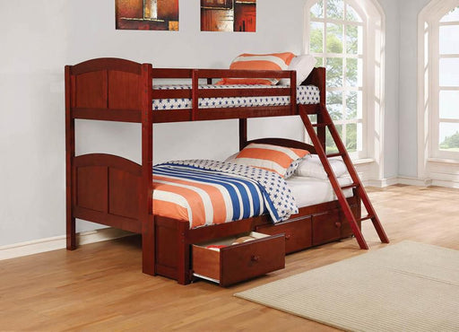 Cappuccino Twin Bunk Bed