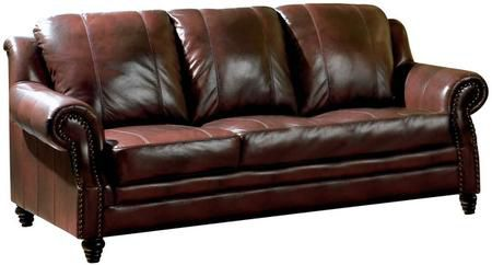 Princeton Brown Leather Sofa