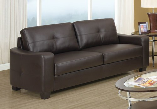 Jasmine Dark Brown Leather Sofa