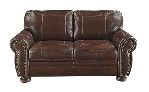 Banner Coffee Leather Love Seat