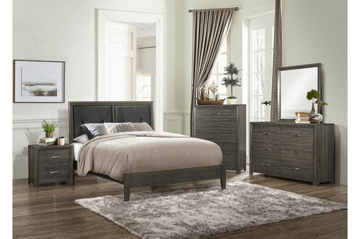 Edina Grey 4PC Queen Bedroom Set