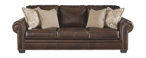 Roleson Walnut Leather Sofa