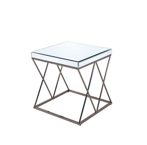 Black Nickel End Table