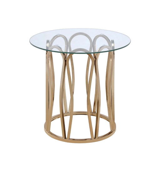 Modern Chocolate Chrome End Table