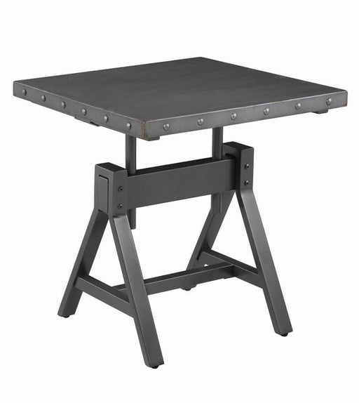 Gunmetal Adjustable End Table