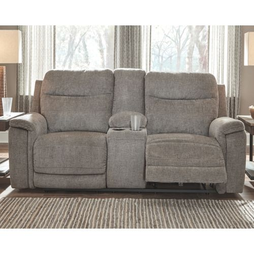 Mouttrie Smoke Power Reclining 2 Piece Living Room Set