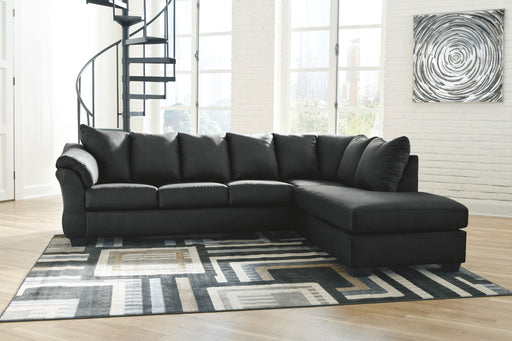 Darcy Black 2 Piece Sectional