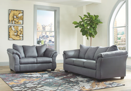 Darcy Steel 2 Piece Living Room Set