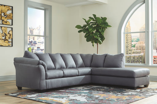 Darcy Steel 2 Piece Sectional