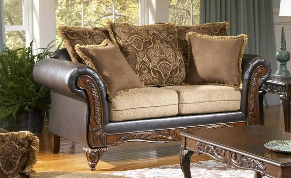 Serta San Marino Coffee Bean Brown Sofa