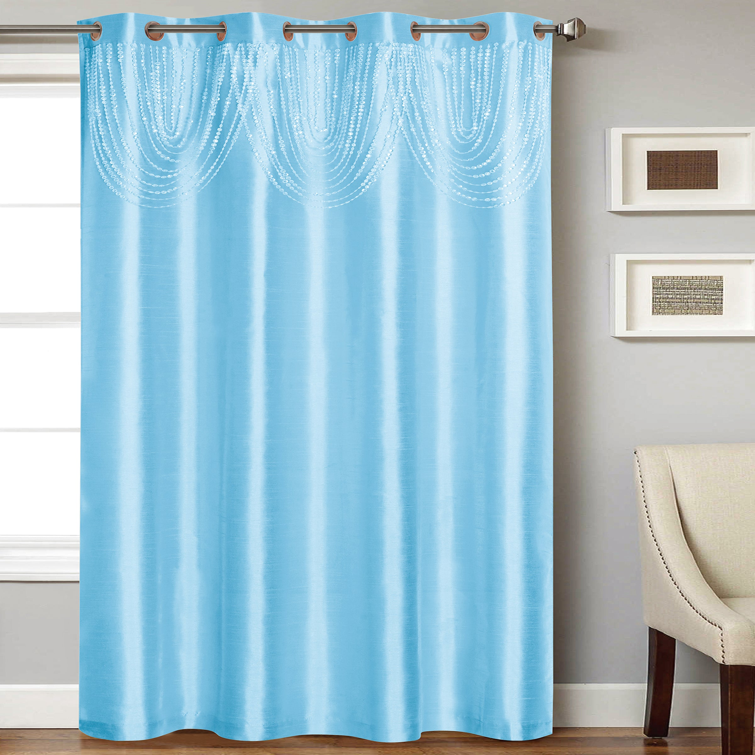 Elaine Panel with Attached Bead Valance