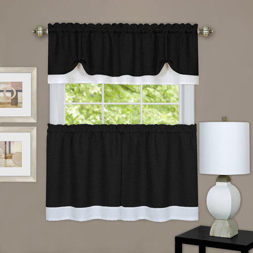 Darcy 3 Piece Kitchen Curtain Set