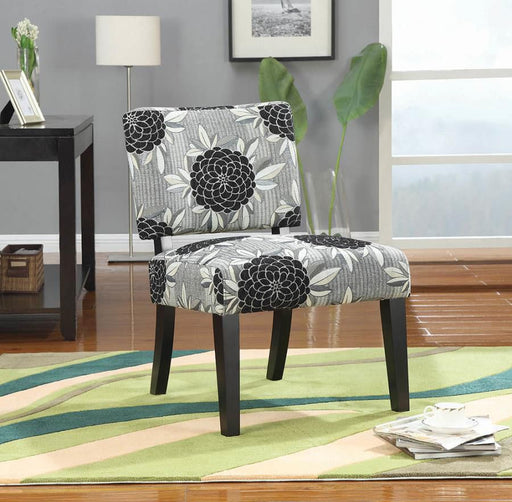 Casual White, Grey, And Black Accent Chair