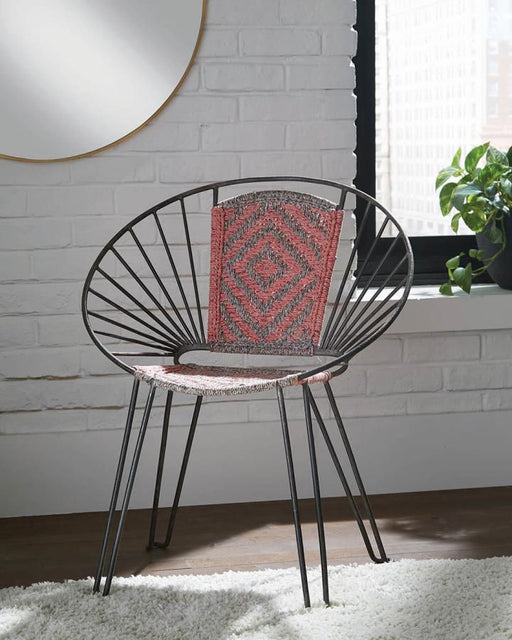 Contemporary Gunmetal Accent Chair (2 Included)