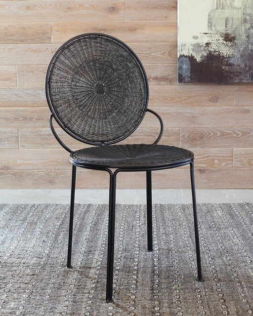 Contemporary Black Iron Accent Chair (2 Included)