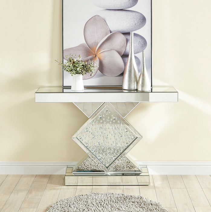 Rectangle Crystal Console Table