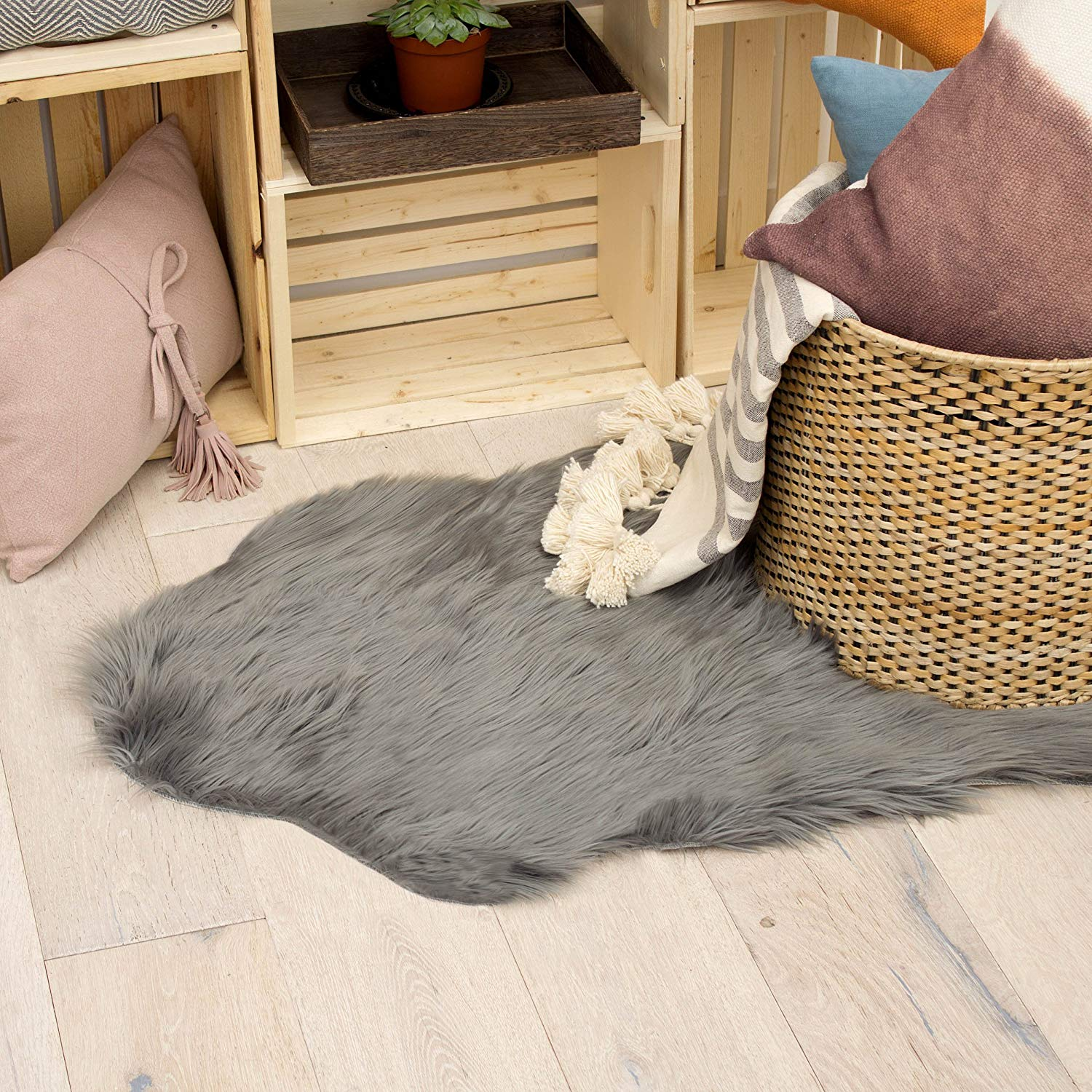 Jean Pierre Faux-Fur 22 X 60 in. Runner Area Rug