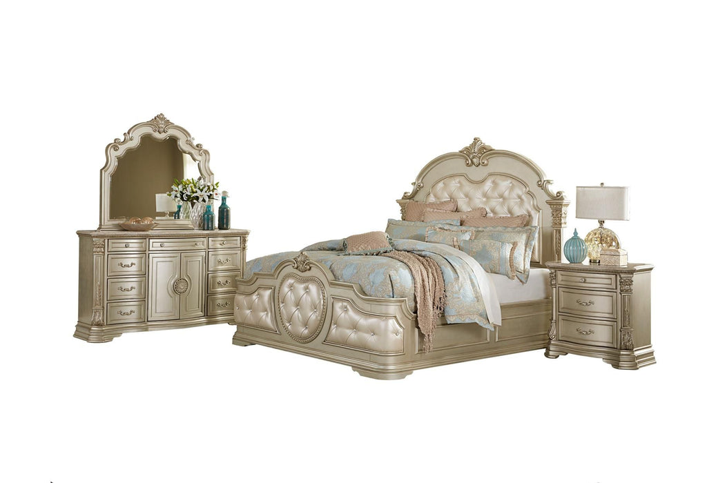 Antoinetta Cherry 4PC Queen Bedroom Set