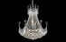 Corona Collection Pendant Chrome Finish 9 Light Chandelier
