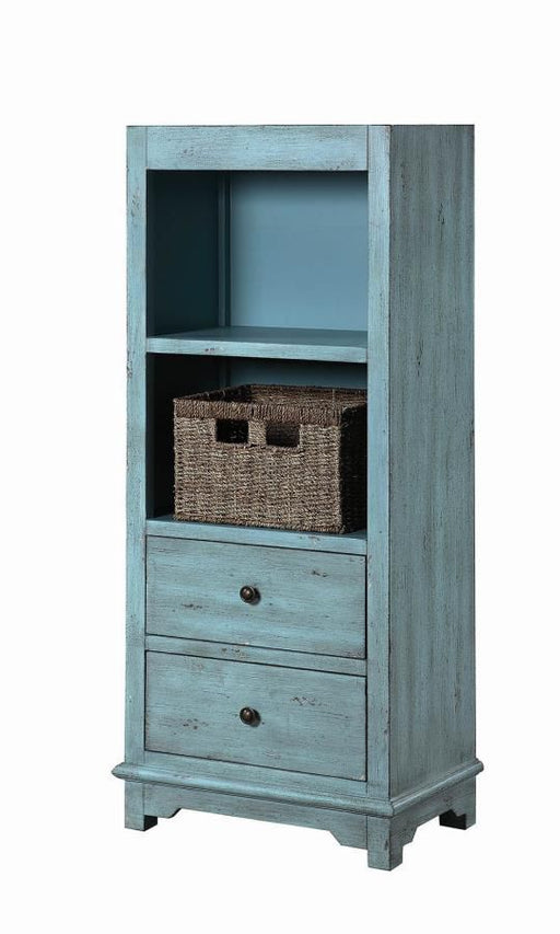 Blue Accent Cabinet