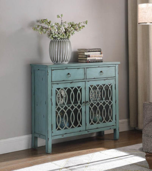 Blue Accent Cabinets